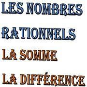Exercices corrigés les nombres rationnels addition et soustraction maths 3...