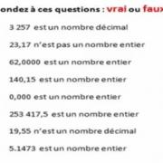 EXERCICES CORRIGÉS DE MATHS 6éme -  Nombres Entiers Et Nombres Décimaux
