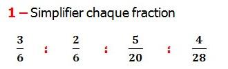 Exercices appliques et exercices corriges de Maths 6ème - les Fractions  Réduire au même dénominateur et Ordonner et simplifier et comparer les fractions . Fractions addition et soustraction , Fractions multiplication et division