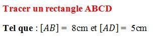 Exercices corrigés de maths 6éme - Les Bases de la géométrie