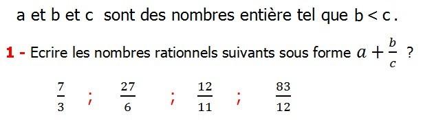 Exercices corriges cours les nombres rationnels la somme et la différence maths 4éme calcul la somme et la différence de deux nombres rationnels calcul plusieurs nombres rationnels calcul la somme et la différence des nombres fractionnaire calcul la somme et la différence des nombres relatifs en écriture décimaux réduire le dénominateur des nombres rationnels a et b et c  sont des nombres entière tel que c inferieure de b Ecrire les nombres rationnels suivants sous forme
